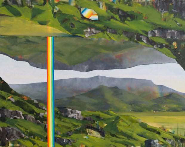 """David Lefebvre, """"Montagne III"""", huile et acrylique sur toile, 73x92 cm, 2015. Courtesy Galerie Zürcher, Paris - New York"""