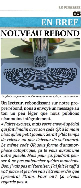Anamorphose d'un QR-code © Philippe Mignon