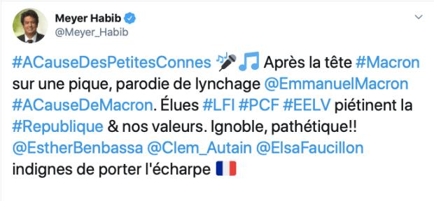 #ACauseDesPetitesConnes - Tweet du député UDI Meyer Habib