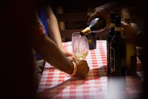 Wine pouring at Festival