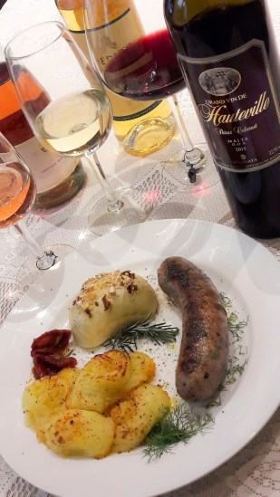 Maltese sausage tried and tested with different styles of Maltese wines.