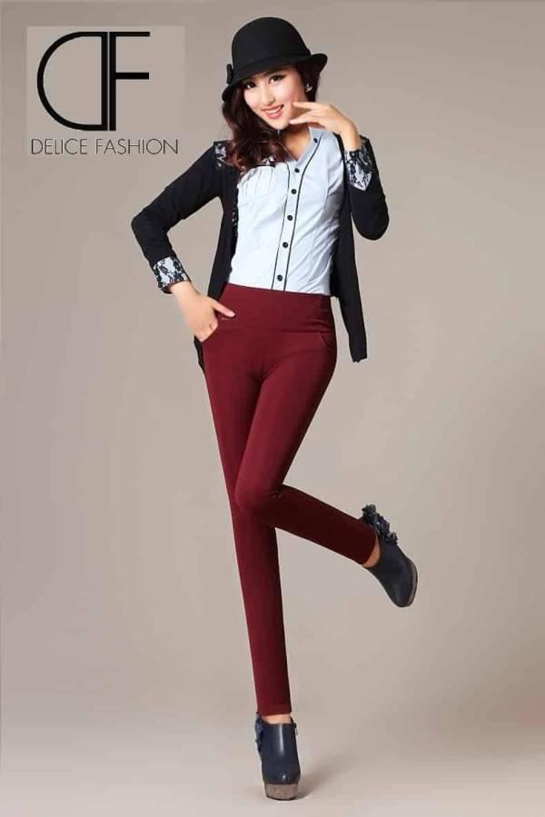 """Always Boss""-pantalon rouge foncé"