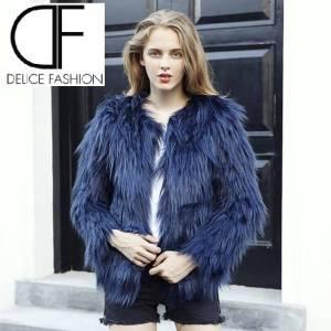Camelia Fur – Bleu Marine