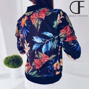 Light Floral Jacket – Bleu Marine