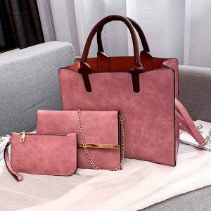 Ensemble sacs 3 pièces mode en cuir PU dames sac à main