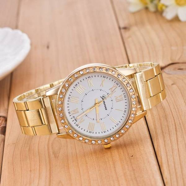 Montre femmes diamant or