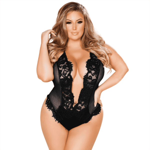 Lingerie Body grande taille dos nu body maille