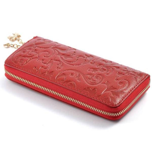 Floral Embossed Leather Women's Wallet