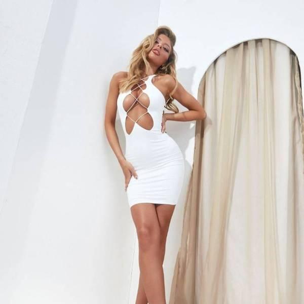 Mini robe moulante sexy 9