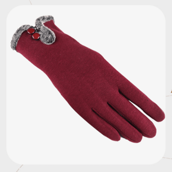 Gants d'hiver chauds en velours coton pour femmes 8