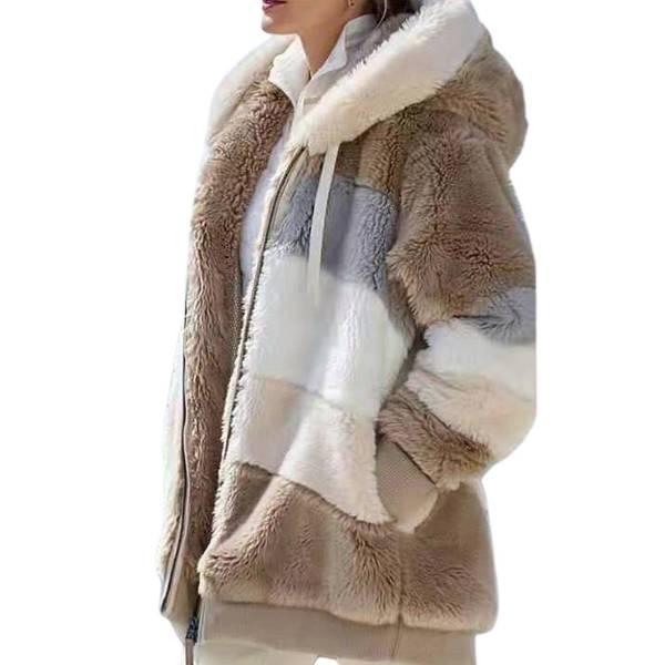 Veste peluche capuche chaude à manches longues 10