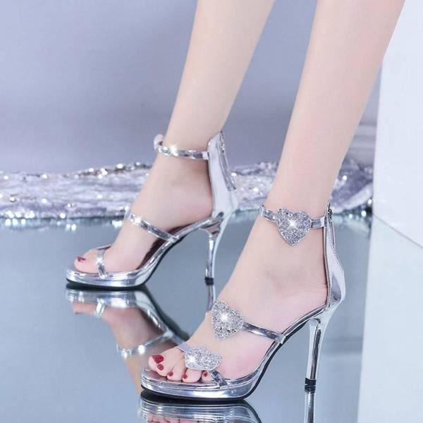 Chaussures brillantes à paillettes 4