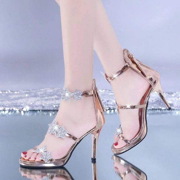 Chaussures brillantes à paillettes 3