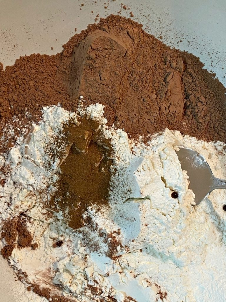chocolate brownie dry ingredients