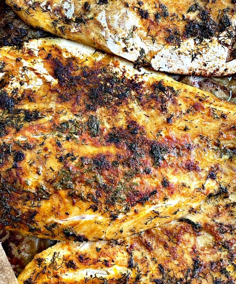 White fish and creamy sauce