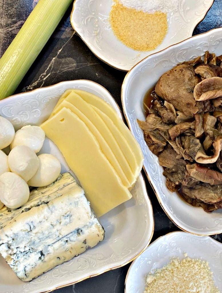 Mushroom quiche ingredients