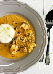 Instantpot coconut curry chicken recipe with rice
