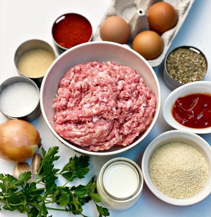 Meat loaf ingredients