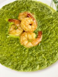 instant pot spinach soup with shrimps
