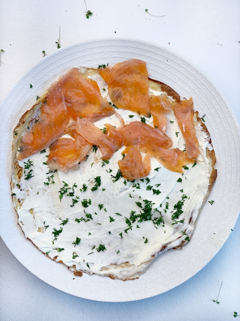 how to make salmon crepes