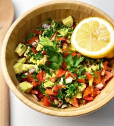 Chunky and healthy avocado salsa