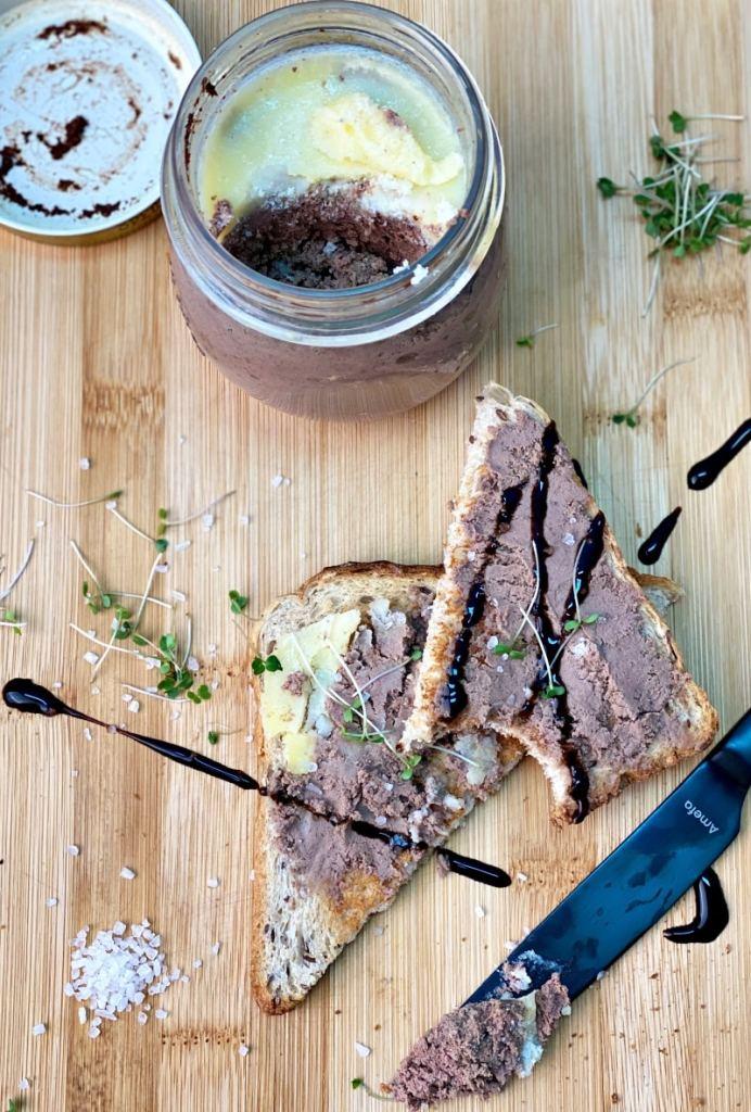 Homemade liver pate