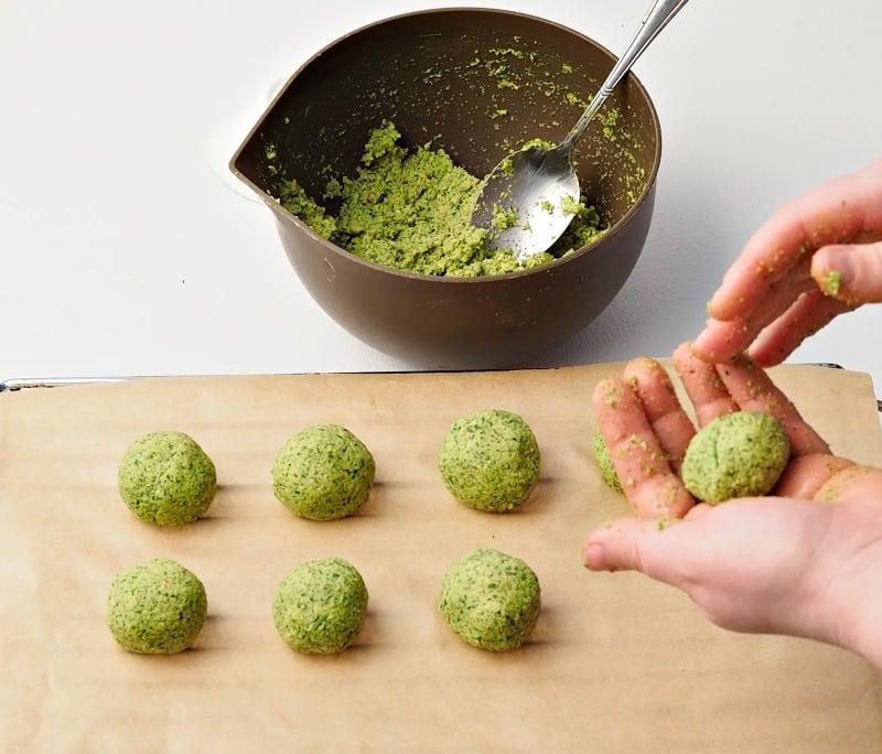 handmade falafel balls