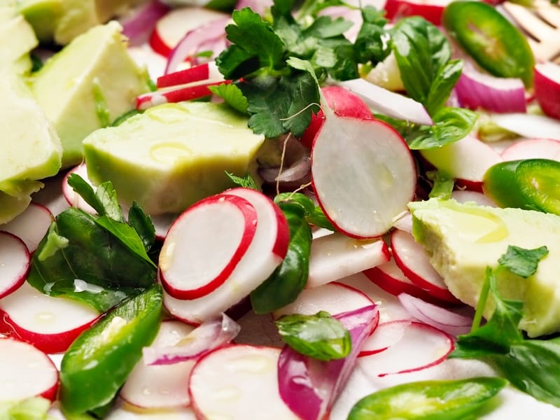 Radish and Avocado Salad