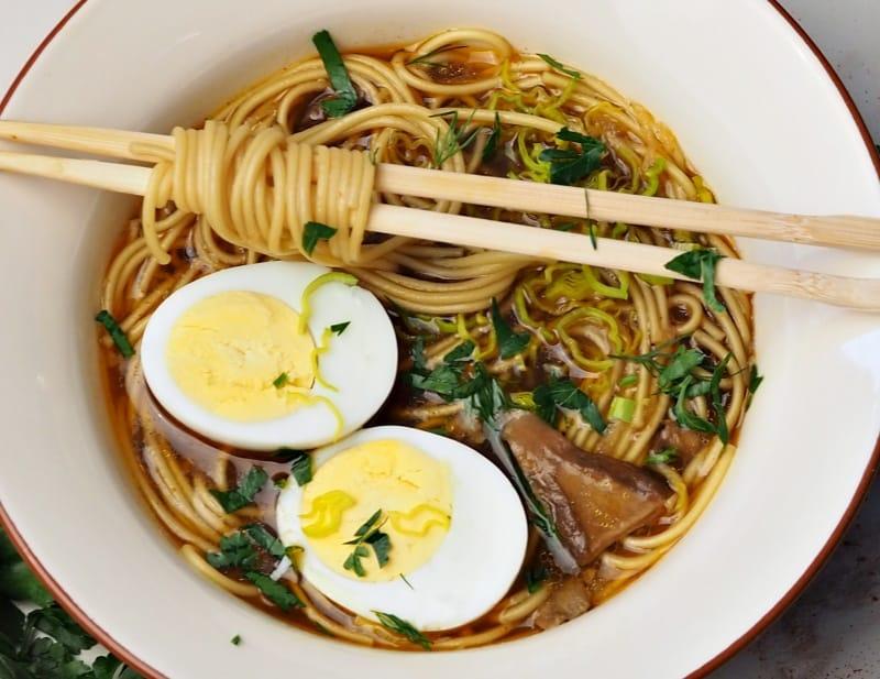 bowl of Japanese ramen soup