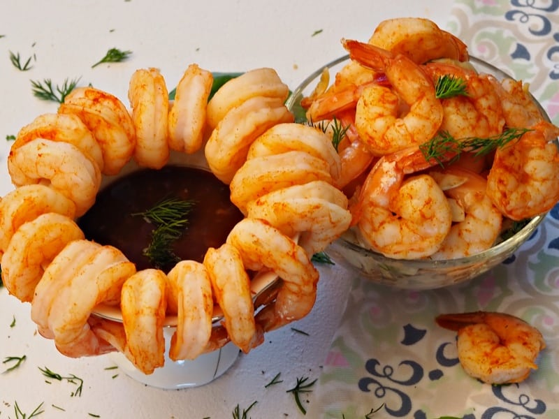 Authentic shrimp cocktail