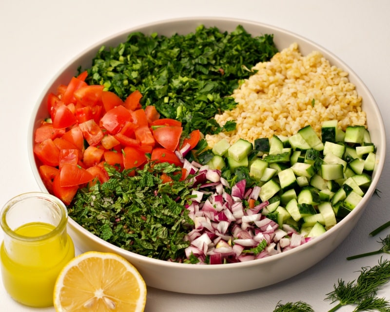 how to cook tabbouleh salad with bulgur