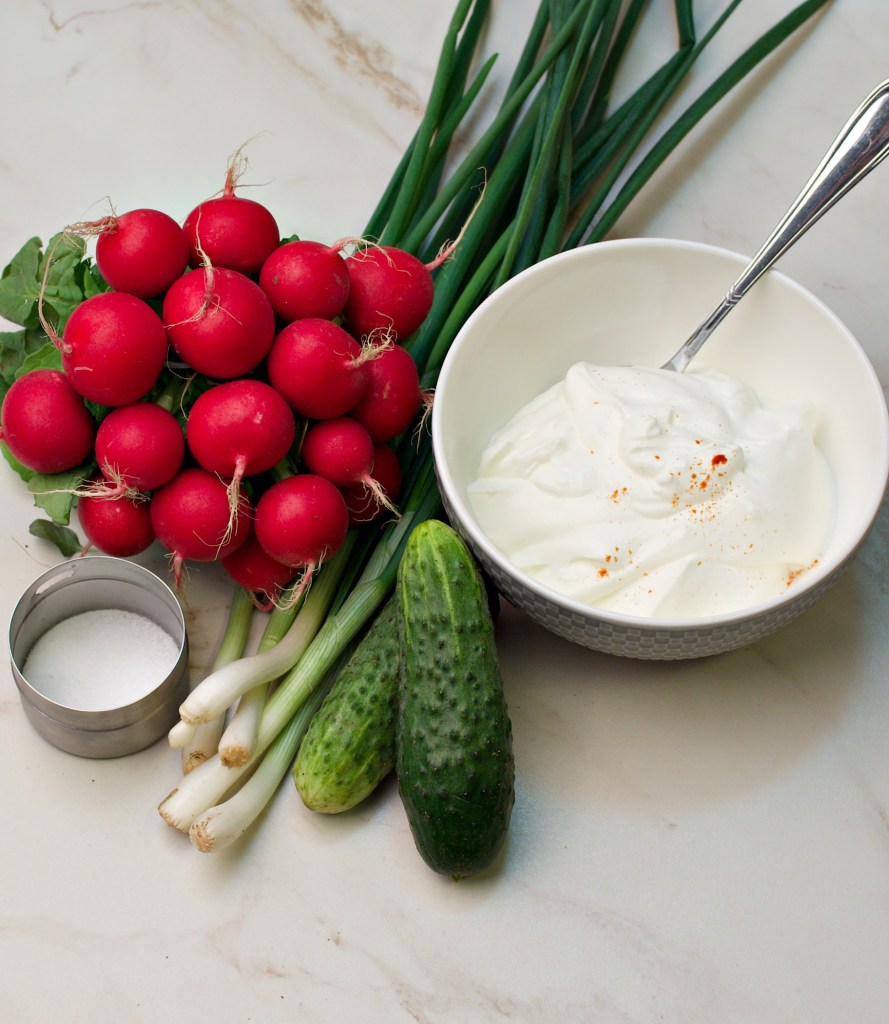 Creamy Cucumber Radish Salad