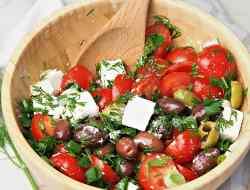 tomato feta olives salad