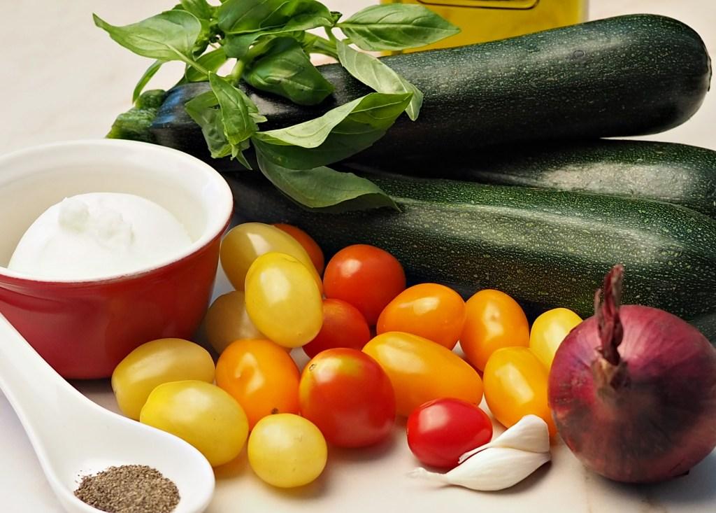 Zucchini Salad with Burrata ingredients
