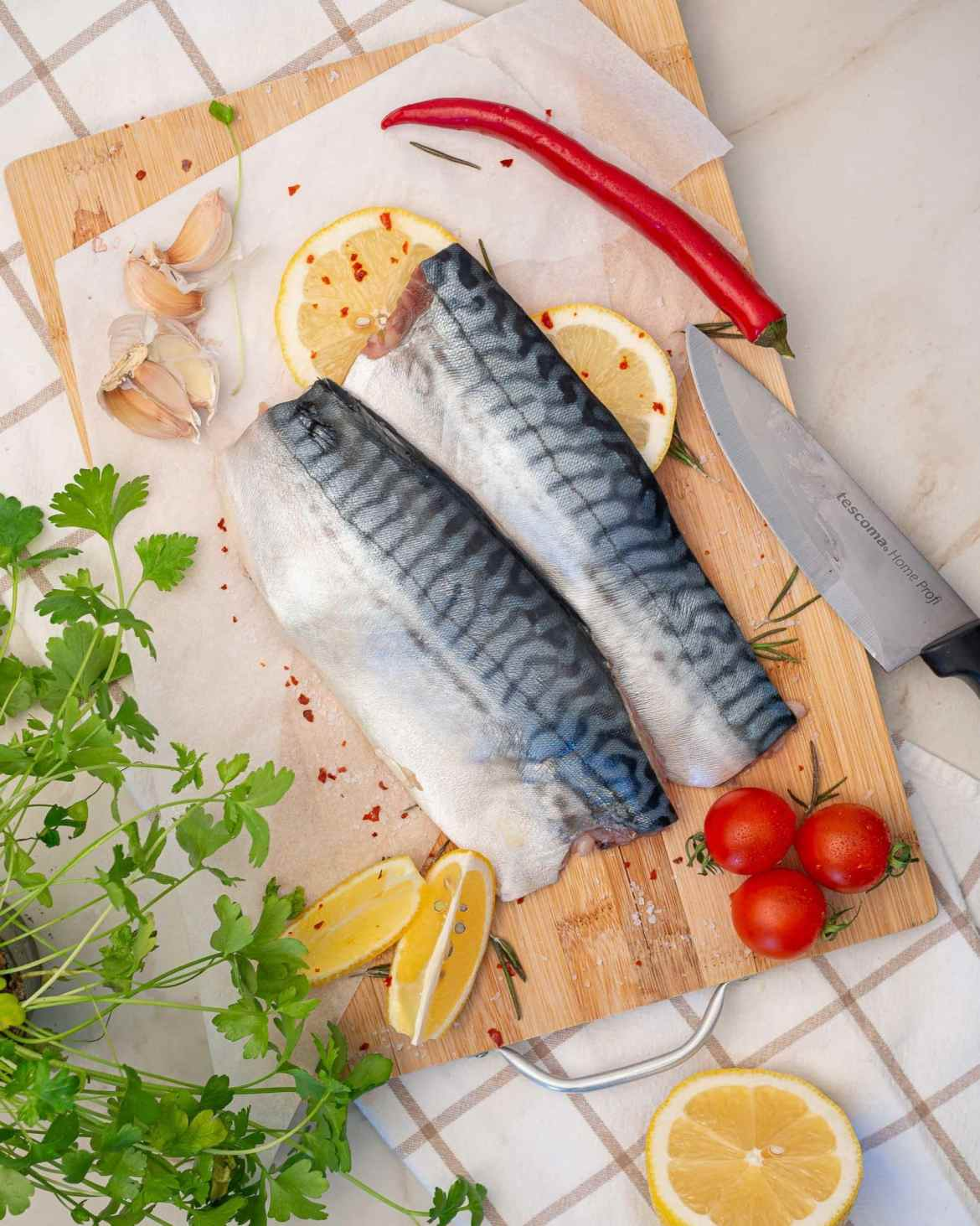 recipe of baked mackerel fillets