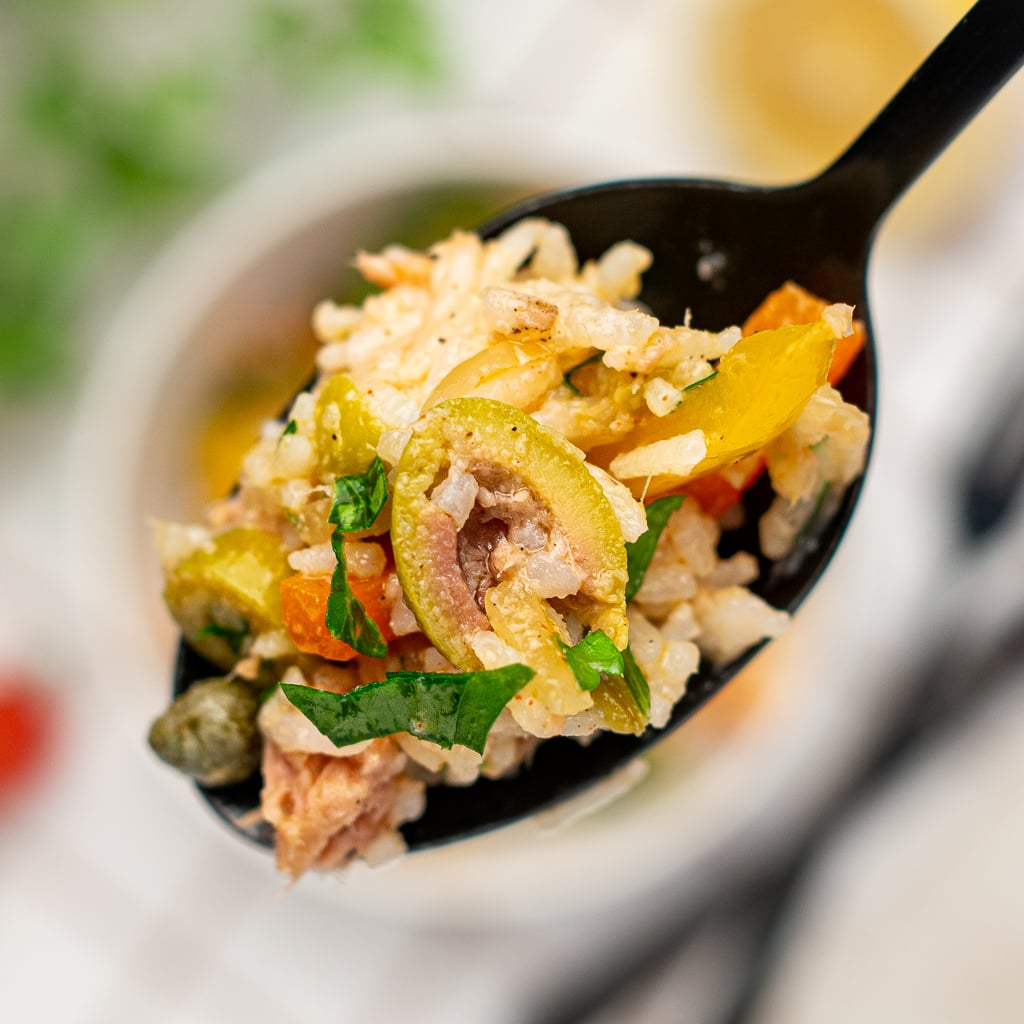 rice salad with tuna and vegetables