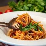 tomato spaghetti with parmesan
