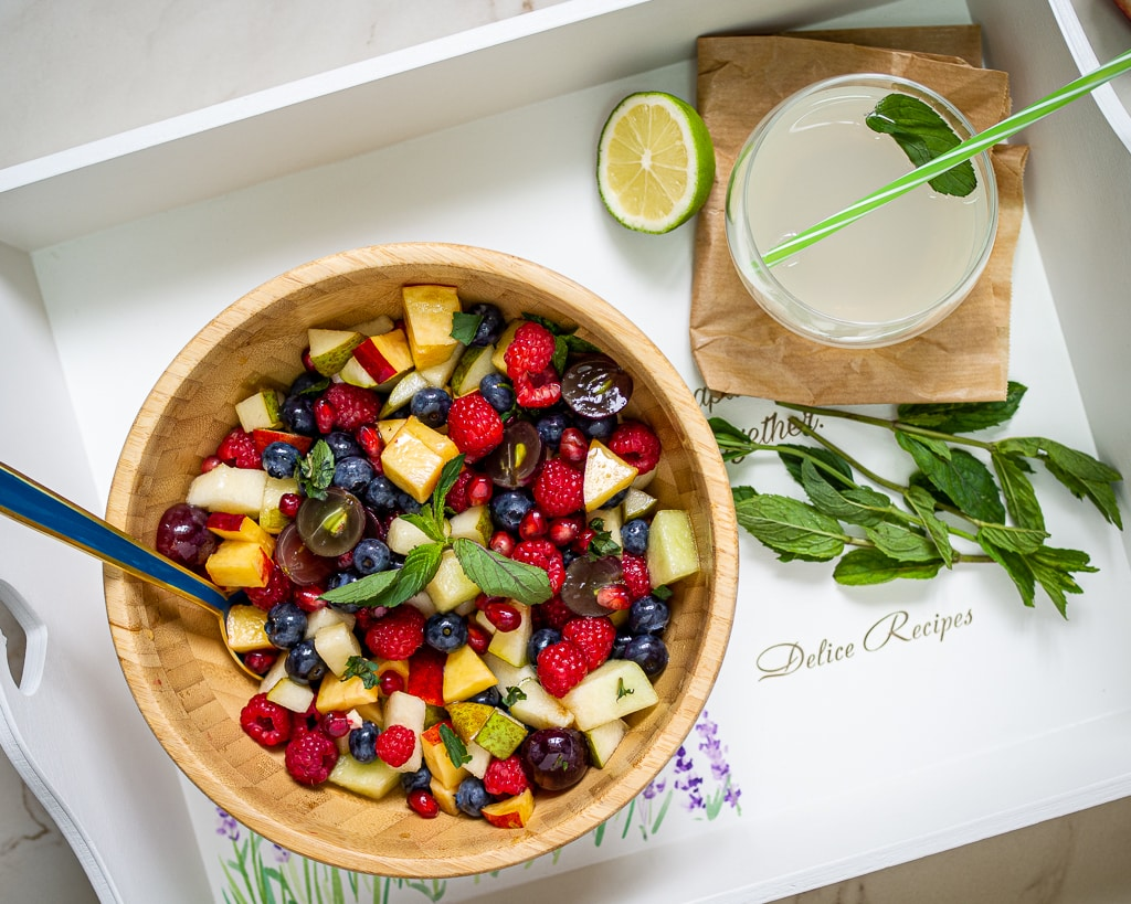 Summer Fruit Salad with Honey Dressing