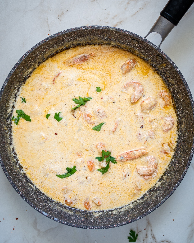how to cook shrimps with cream instructions