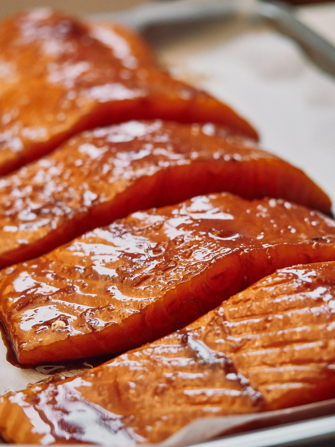 how to bake teriyaki salmon
