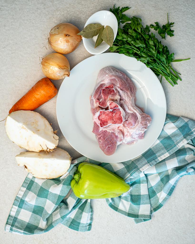 Pork broth