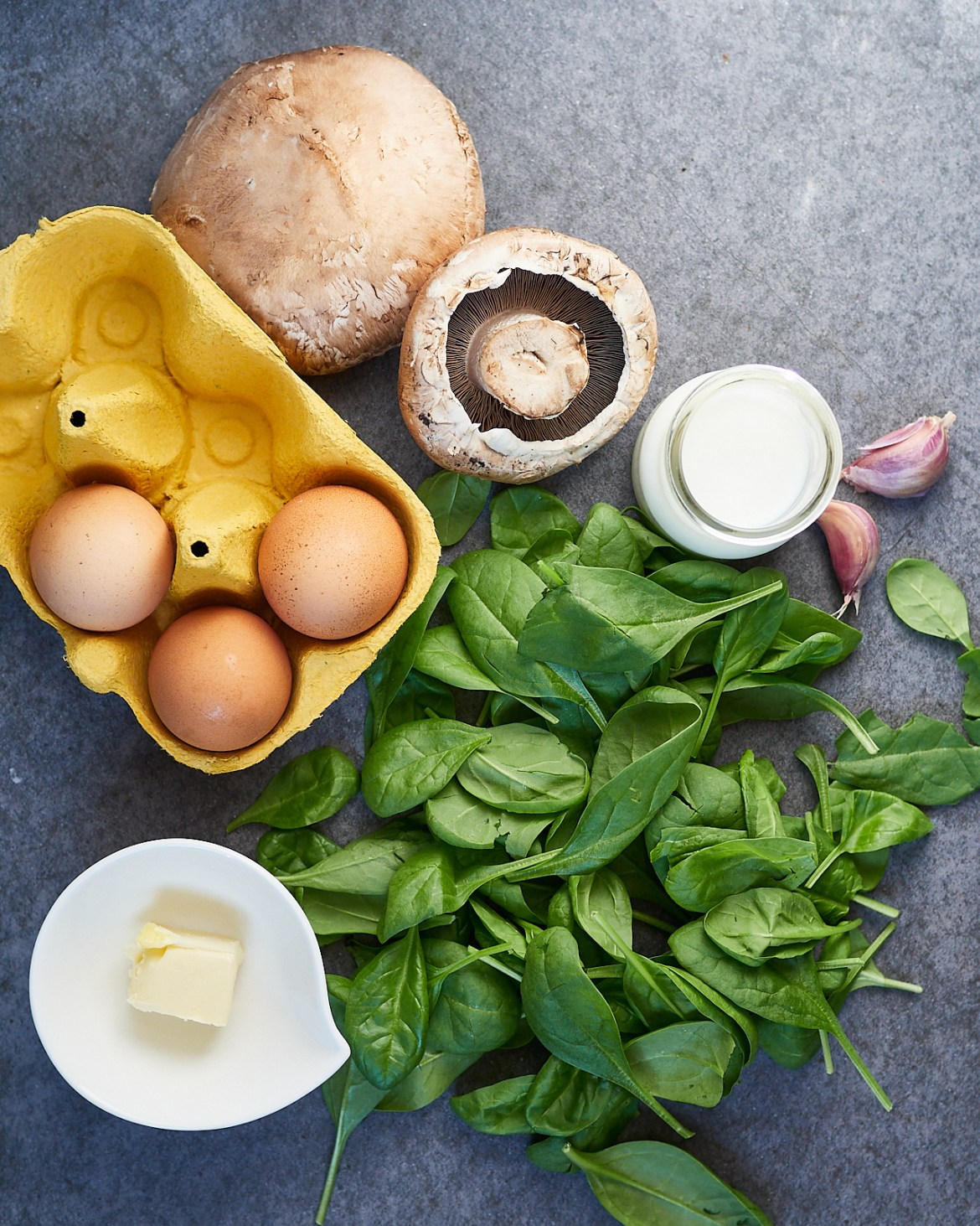 eggs spinach mushrooms