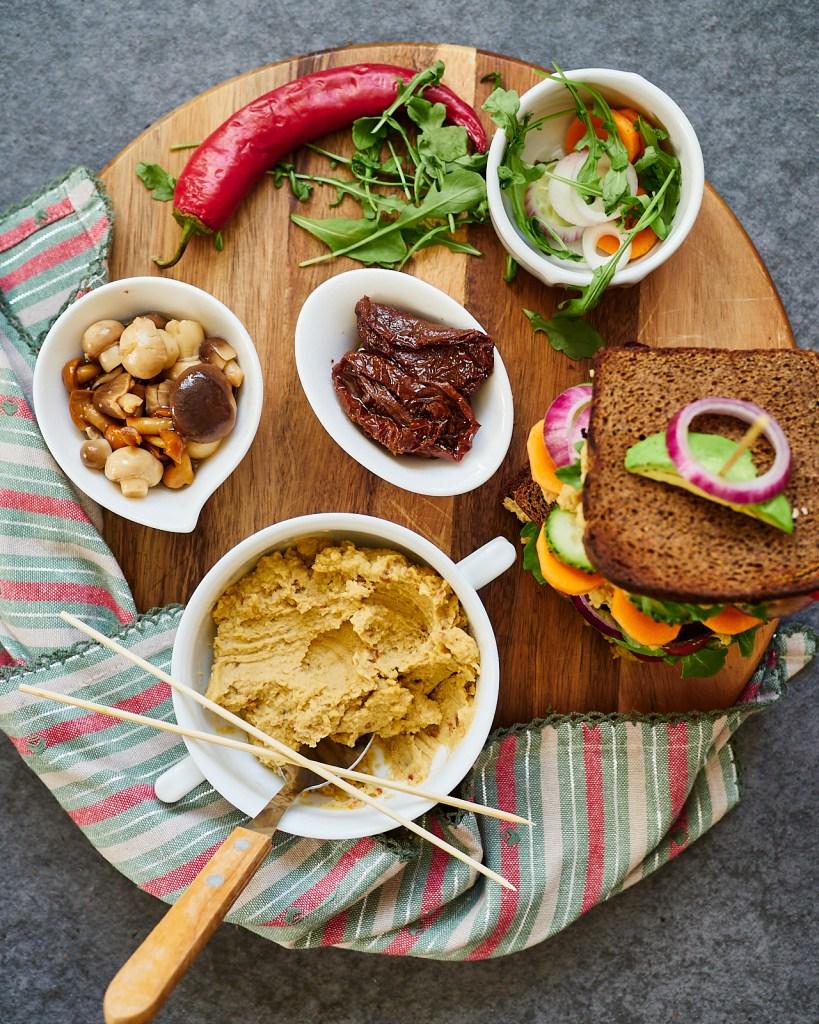 Best Veggie Hummus Sandwich
