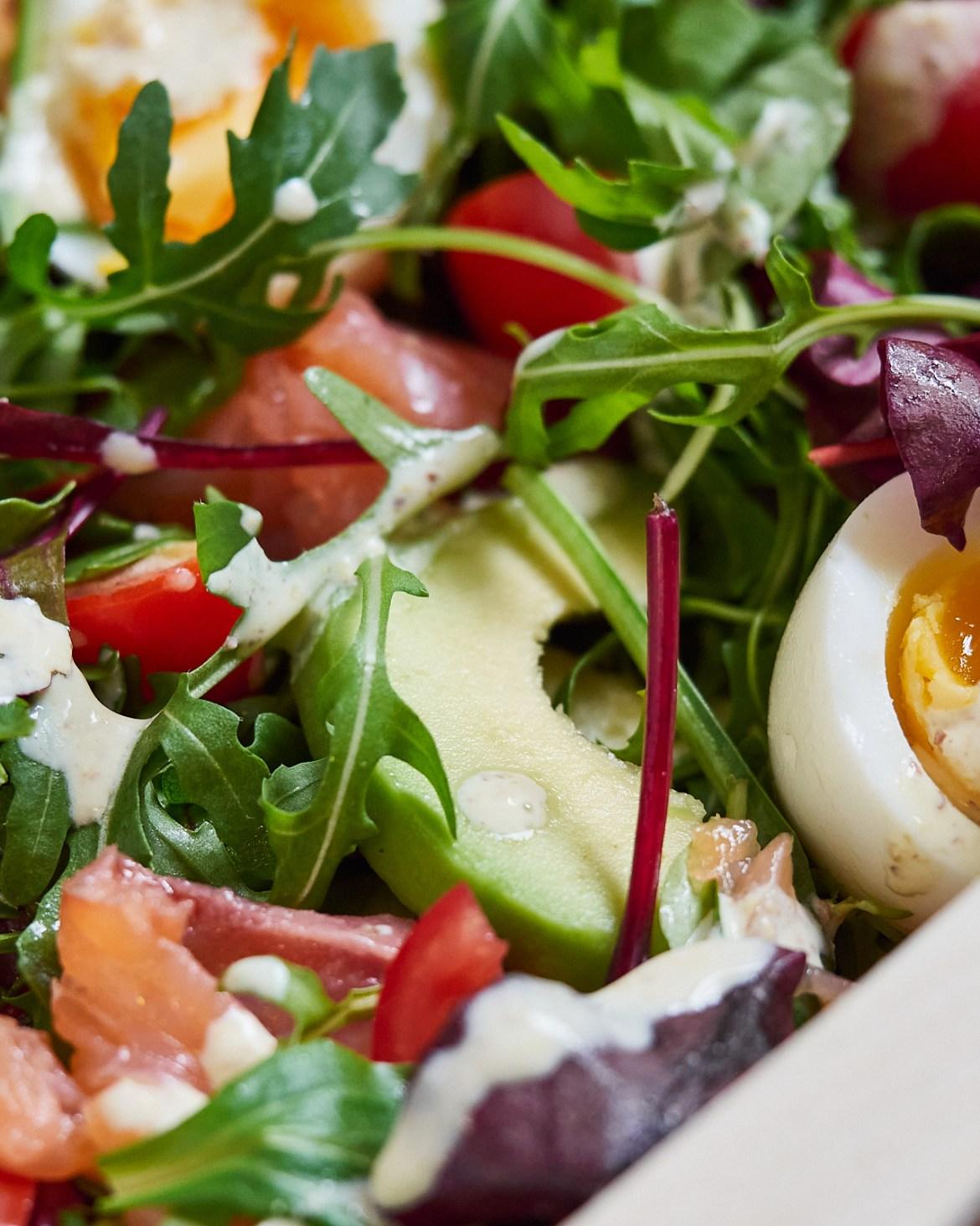 smoked salmon salad recipe with arugula