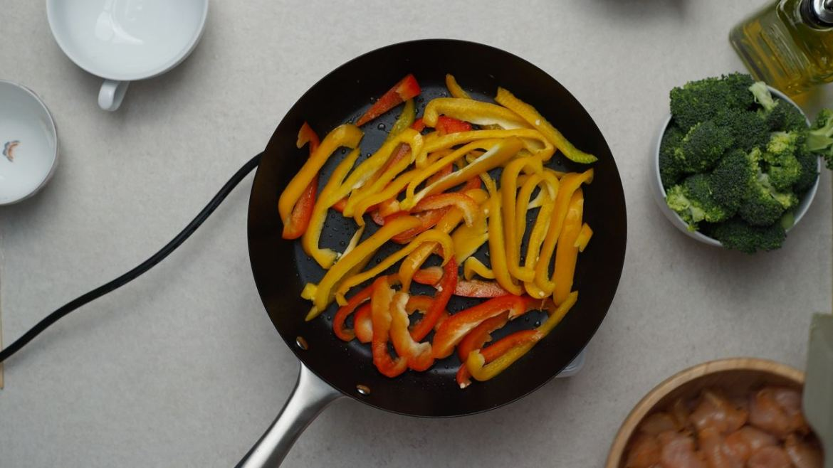 how to fry vegetables