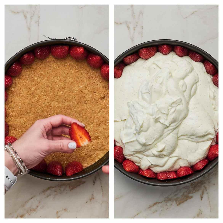 how to make no-bake strawberry cheesecake
