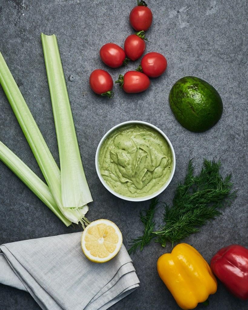 Vegan Chickpeas Avocado Pasta Salad Ingredients