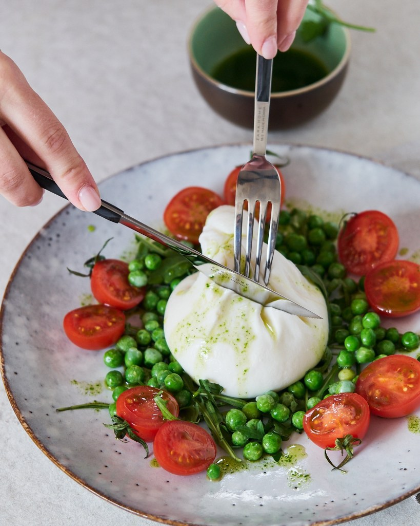 Dreamy Burrata Salad with Peas