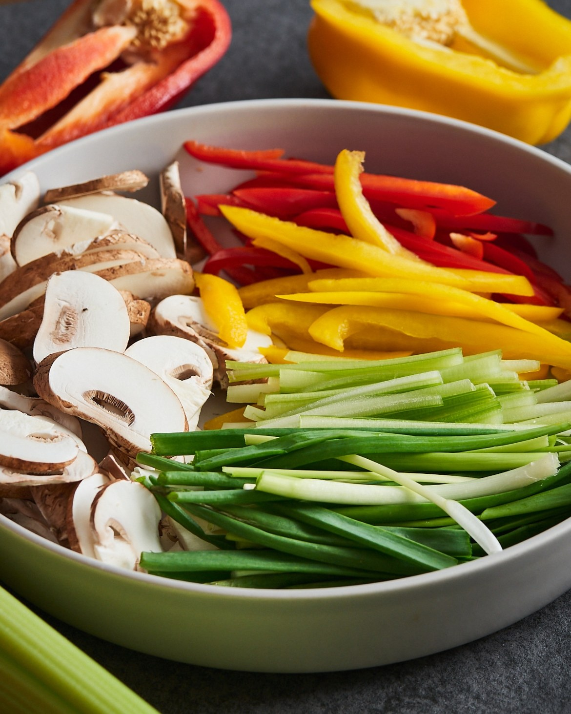 how to slice vegetables stir fry