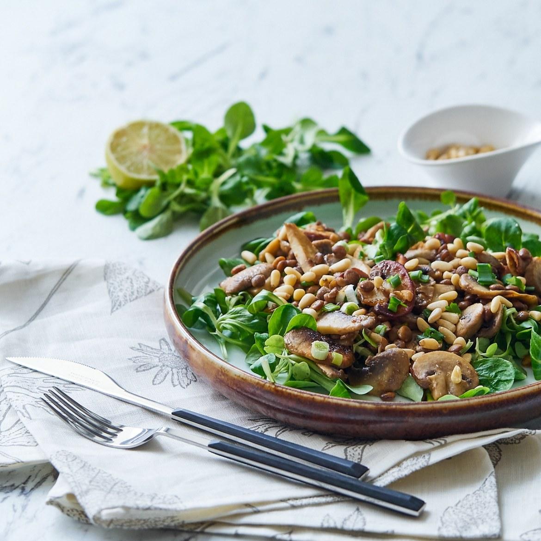 lentil mushroom salad recipe